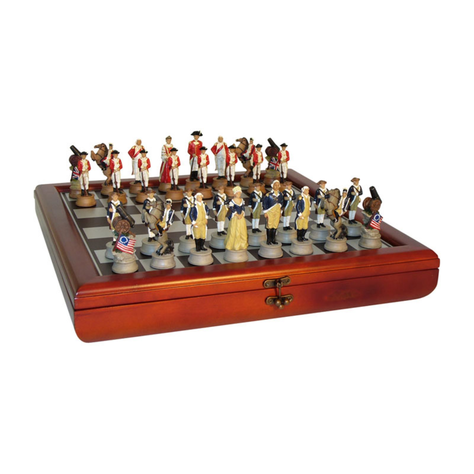 American Revolution Painted Resin Chess Set | Products in
