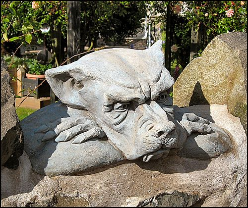 Bored stone carving and dragons