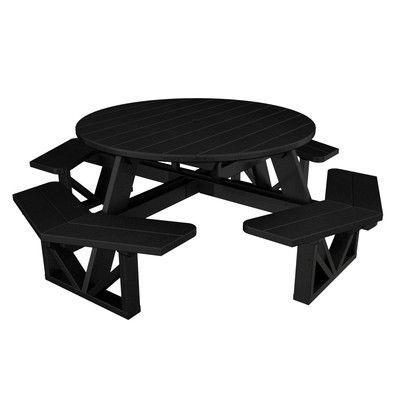 POLYWOOD Park Picnic Table Finish Black Products Pinterest - Picnic table finish