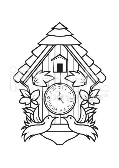 cuckoo clock clock drawings