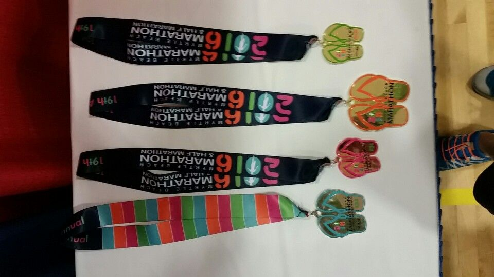 Myrtle Beach Marathon 2016 finisher medals for the full