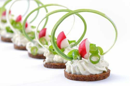 A nice presentation adaptable for tons of hors d\'oeuvres like ...