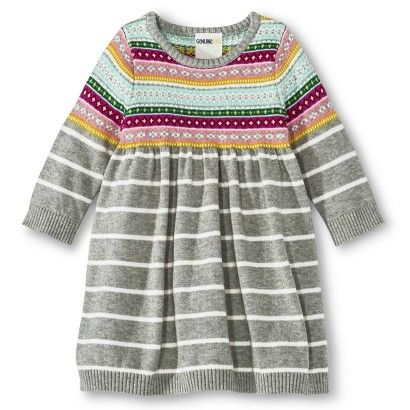 Infant Toddler Girls' Fair Isle Sweater Dress   My Work ...