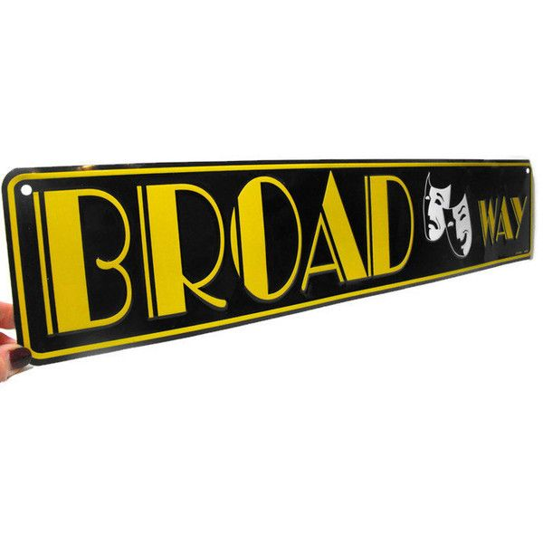 Vintage Broadway Sign Metal Broadway Sign, Retro Broadway Sign ...