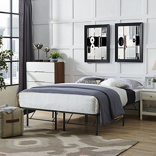 Modway Horizon Queen Bed Frame In Brown Replaces Box Spring