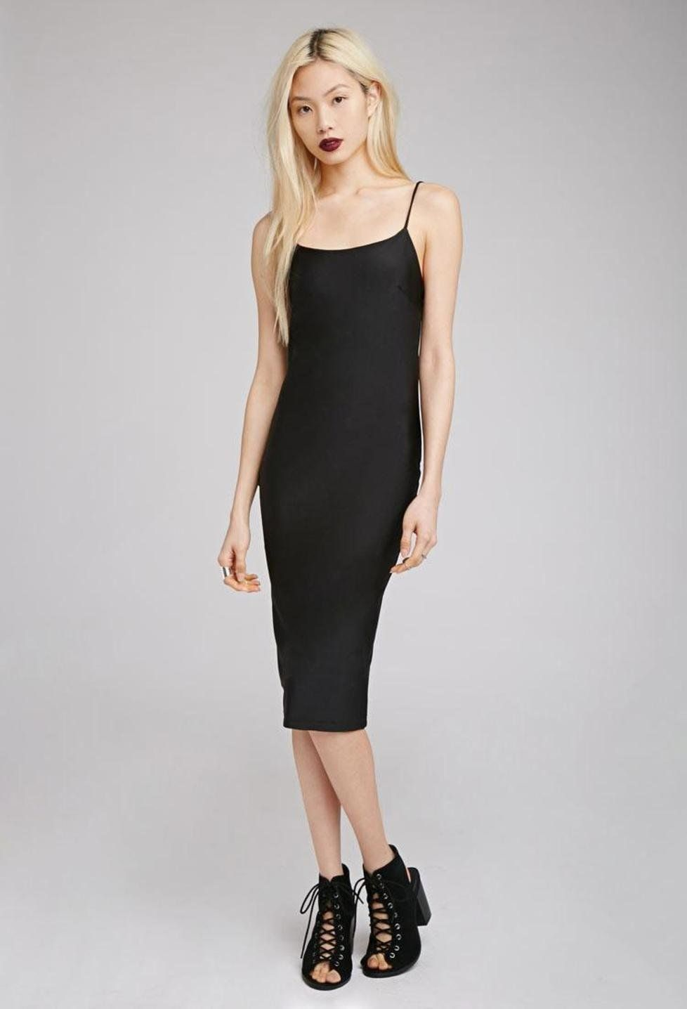 ea1d117cf0b Black Bodycon Midi Dress Forever 21 - Gomes Weine AG