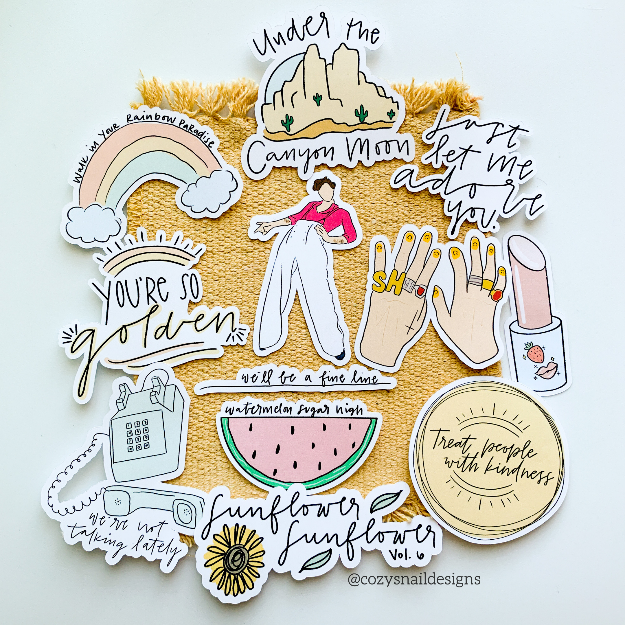 Harry Styles Fine Line Stickers Fine Line 12 Pack Etsy Harry Styles Line Sticker Hand Painted Canvas