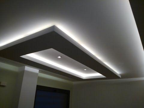 Iluminacion led rgb falsos techos e iluminacion escondida for Plafones luz pared