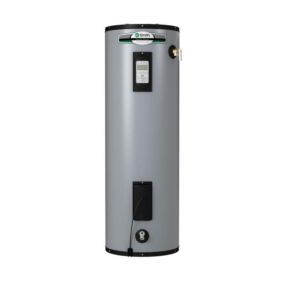 A O Smith Signature Premier 50 Gallon Tall 12 Year Limited 5500 Watt Double Element Electric Water Heater Lowes Com In 2020 Electric Water Heater Hot Water Heater Water Heater