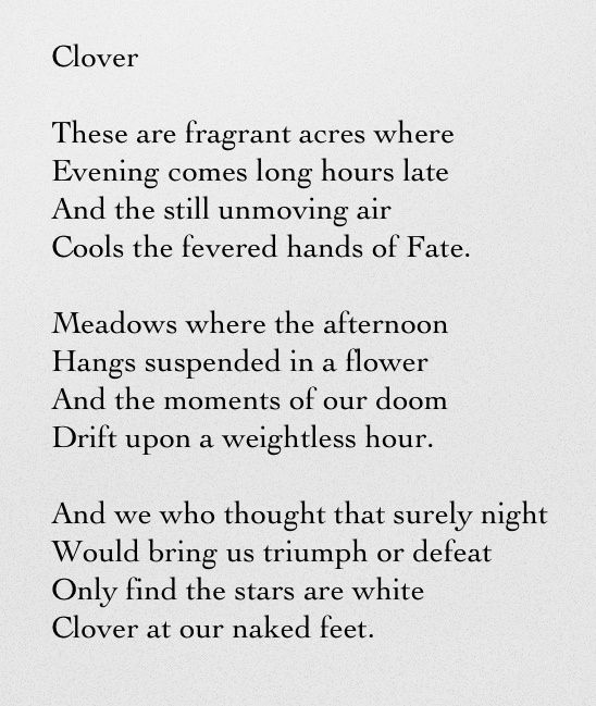 """""""Clover"""" By Tennessee Williams"""