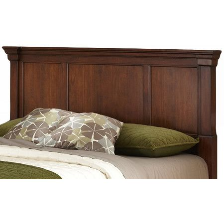 Mahogany Wood Headboard With Crown Molding And A Cherry Finish Product Headboardconstruction Material