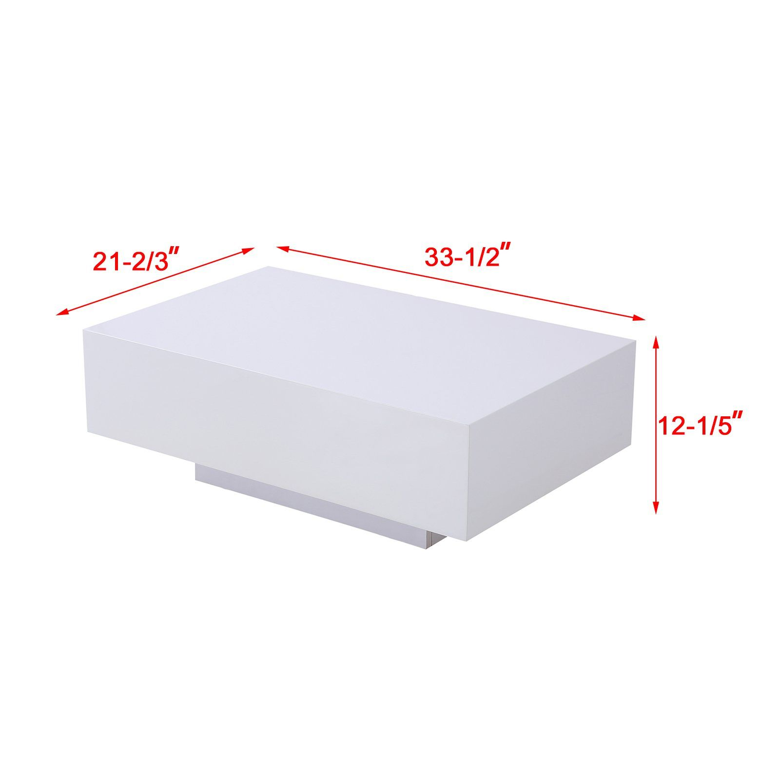 Mecor High Gloss White Rectangle Coffee Table Modern Side End Sofa Table With 1 Layer Living Room Coffee Table Rectangle Living Room Table Modern Coffee Tables [ 1600 x 1600 Pixel ]