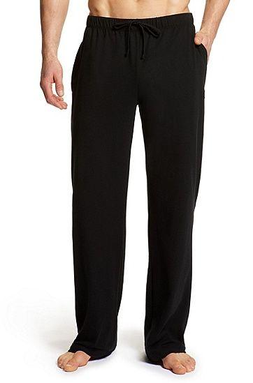 'Long Pant CW BM' | Stretch Cotton Sweatpants, Black