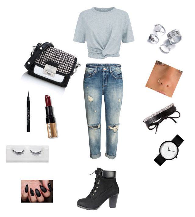Lazy Sunday with effort by latingirl13 on Polyvore featuring polyvore, moda, style, T By Alexander Wang, Karl Lagerfeld, Fallon, Bobbi Brown Cosmetics, Givenchy, fashion and clothing