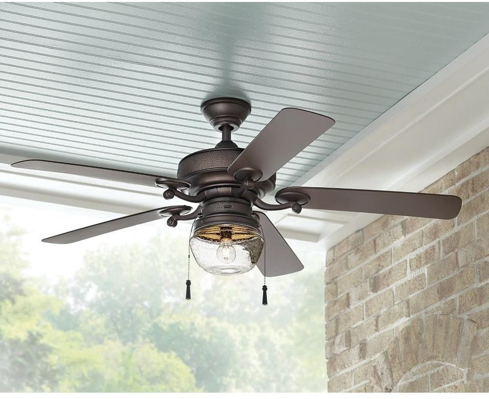 52 Led Bronze Ceiling Fan Light Indoor Outdoor Large Area Porch