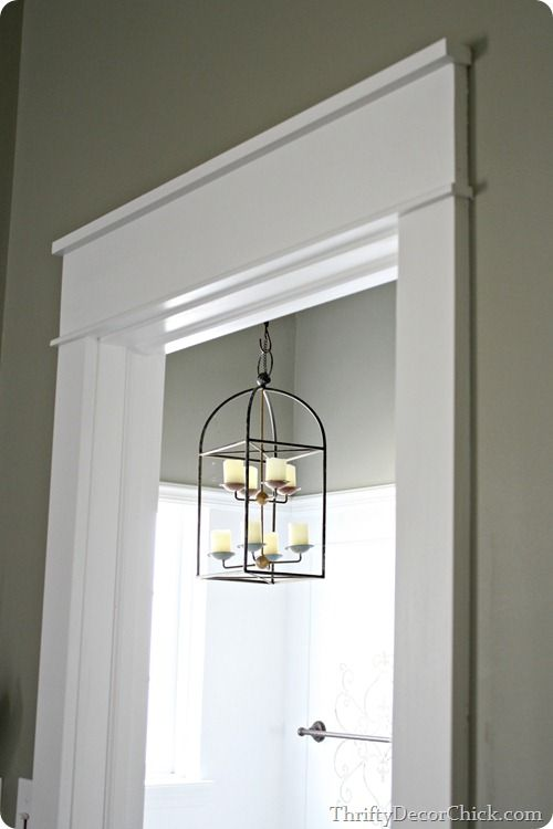 Installing Chunky White Craftsman Trim To Replace Wimpy Molding In Your Home Thriftydecorchick Moldings And Trim Farmhouse Trim Craftsman Door