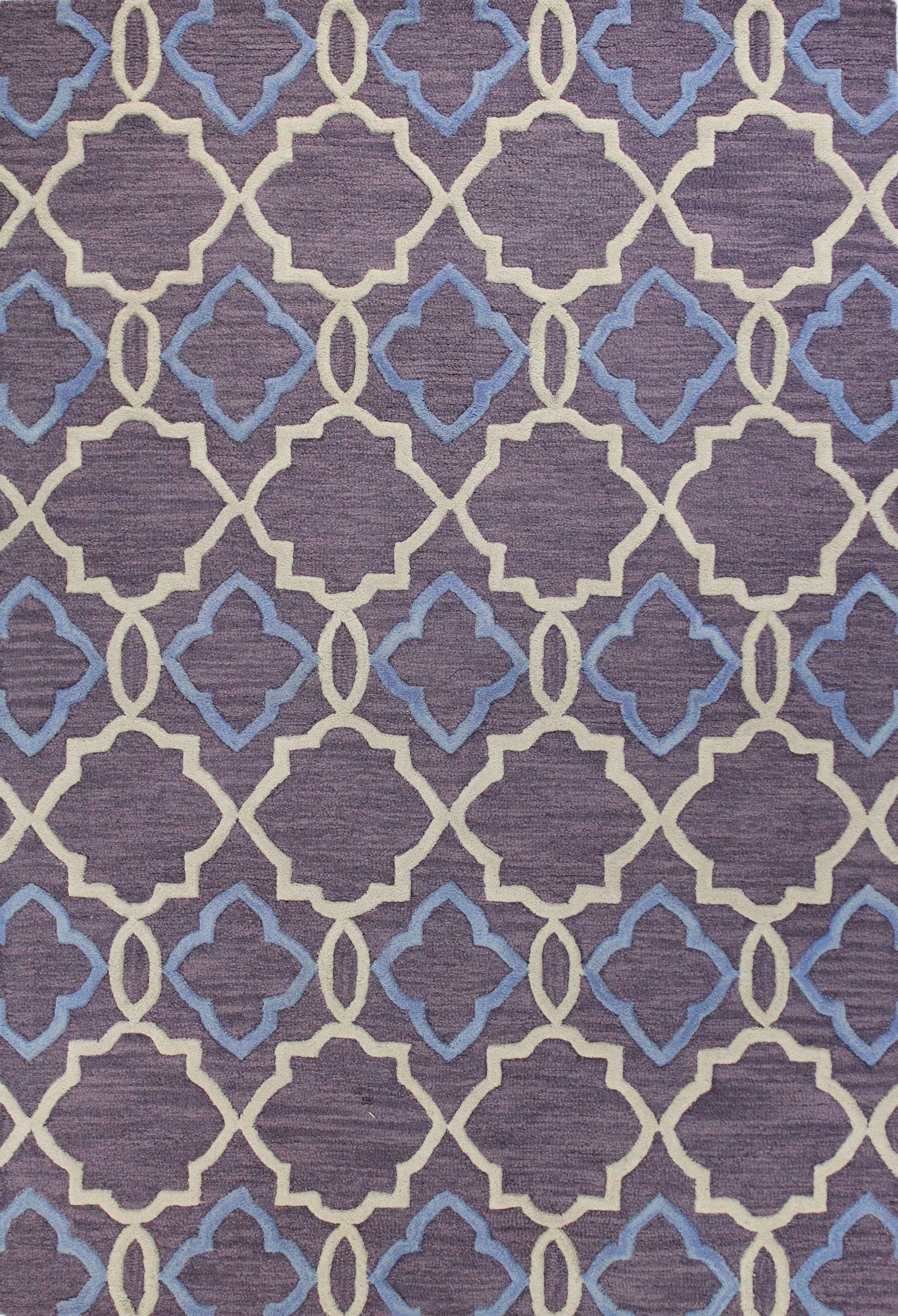 Hand-Tufted Lilac Area Rug