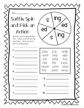 Suffixes Word Endings (-s, -es) (-s, -ed, -ing) (-er, -est