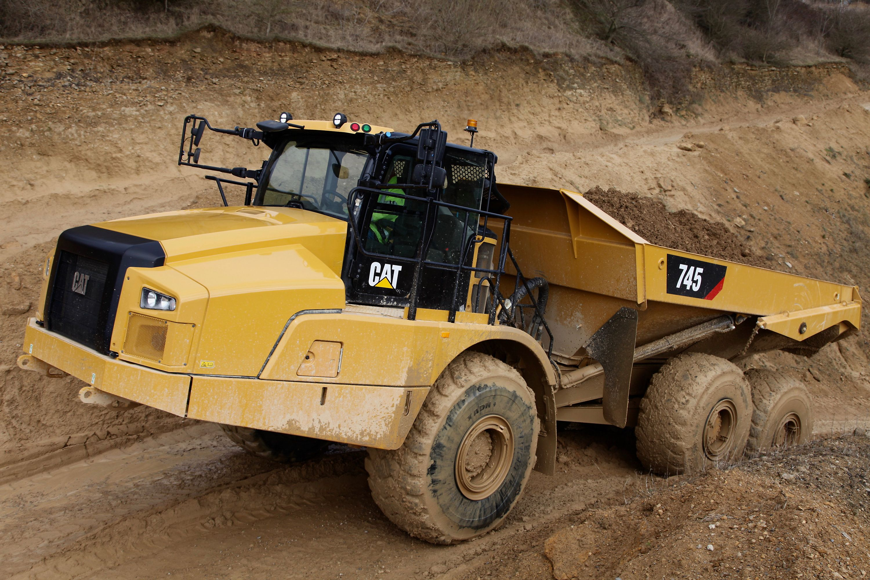 Cat 745 Trucks Articulated Trucks Dump Truck