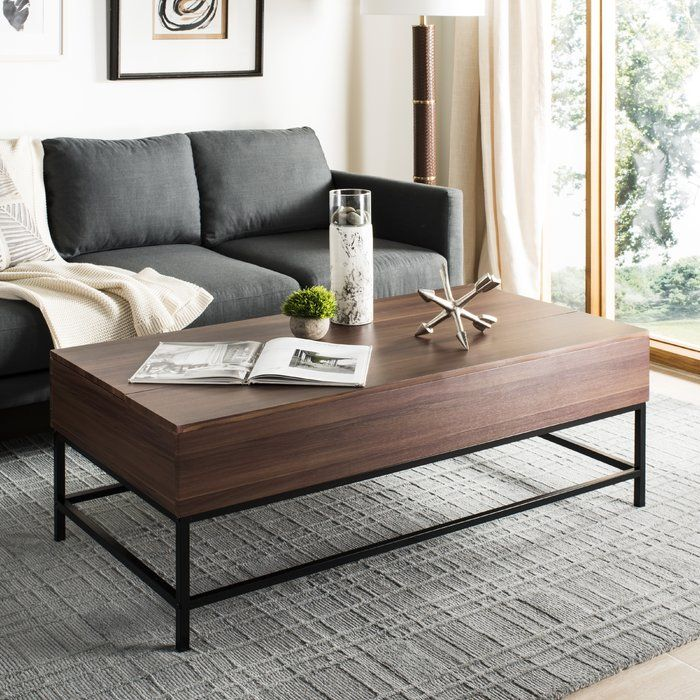 Ivy Bronx Reda Lift Top Coffee Table with Storage Top
