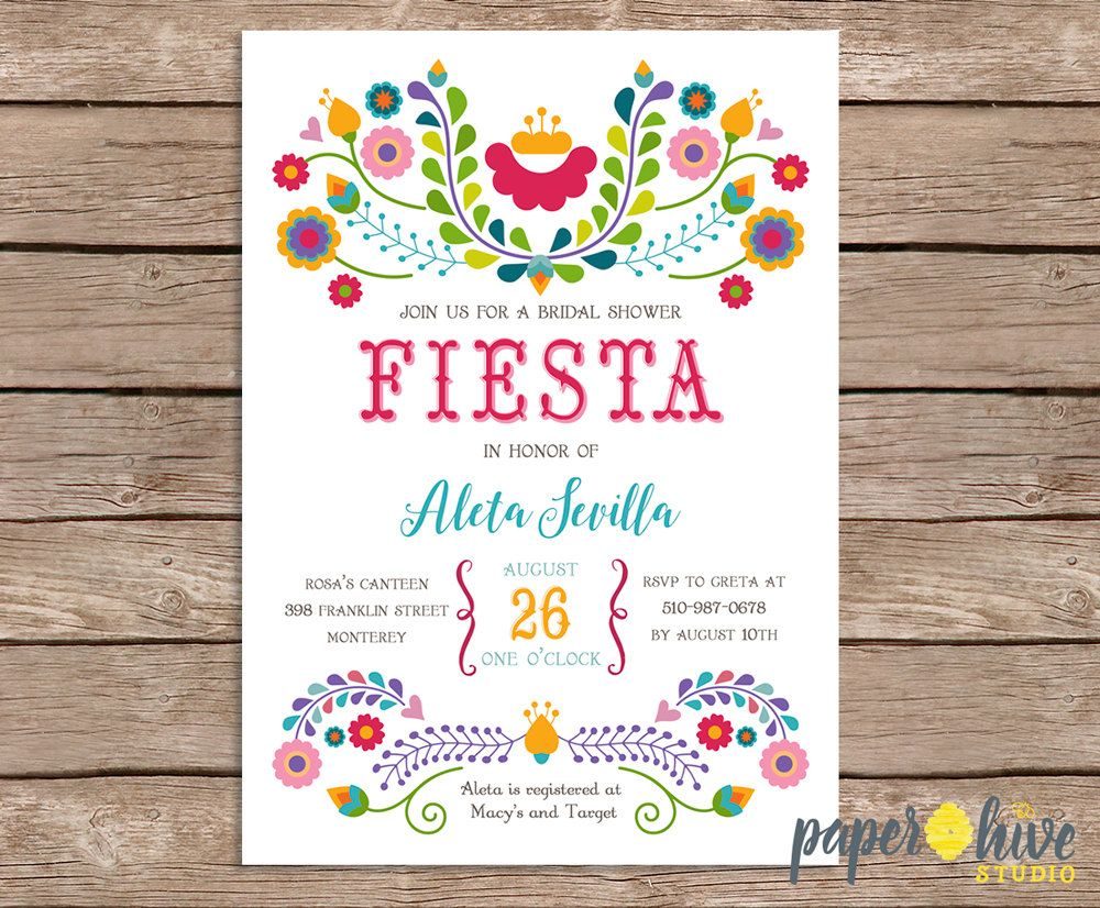 Fiesta bridal shower invitation / mexican bridal shower / printable ...