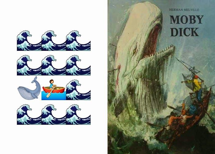 Emoji book cover - Moby Dick, Herman Melville