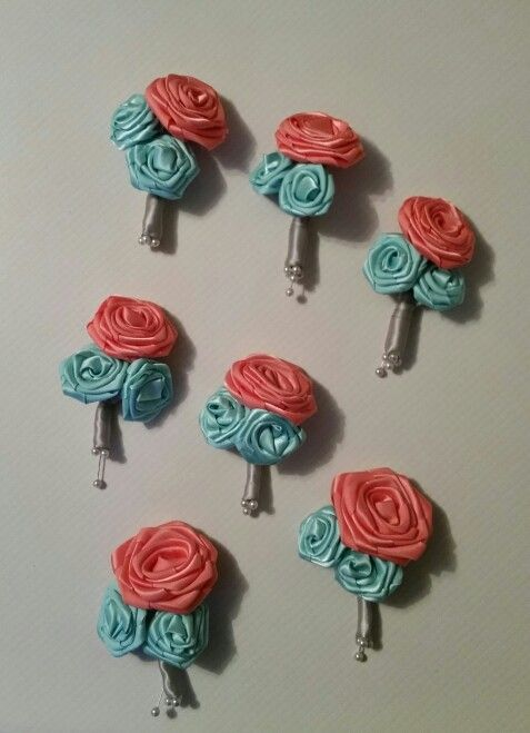 Ribbon roses for my lil sisters wedding!!!