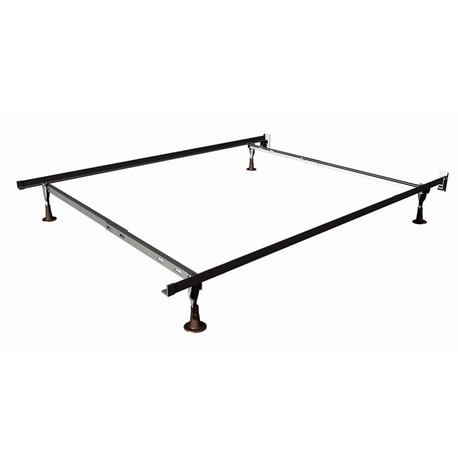 Twin Full Size Duralock Metal Bed Frame With Glides Full Bed