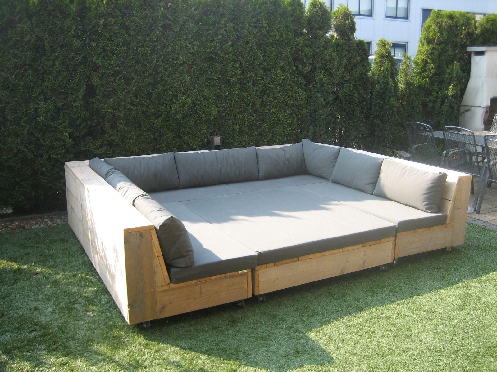 loungebank van steigerhout tuin pinterest tuin. Black Bedroom Furniture Sets. Home Design Ideas