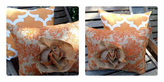 COORDINATING TANGERINE ACCENT Pillows  by TheGreatestGiftofAll, $15.00