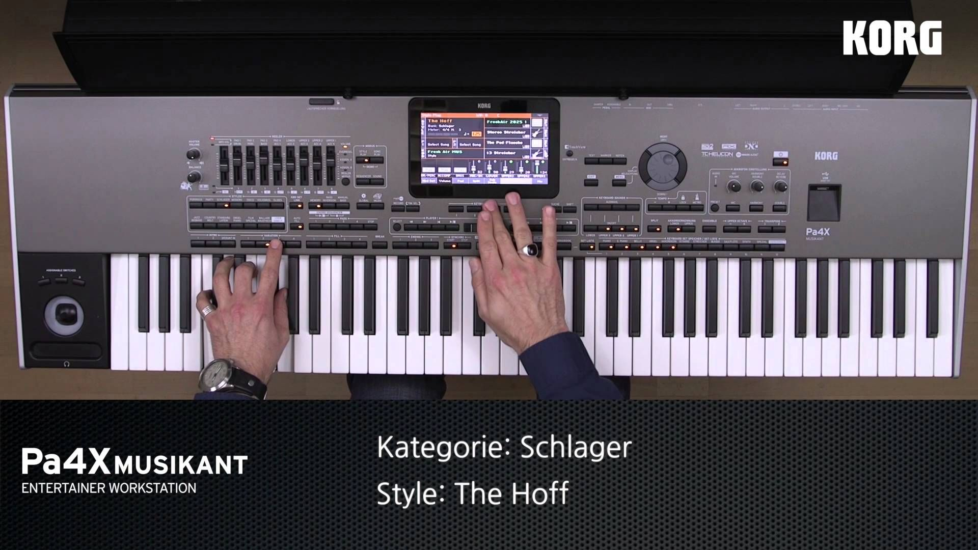 KORG - Pa4X MUSIKANT Style Demos: PARTY & SCHLAGER Styles