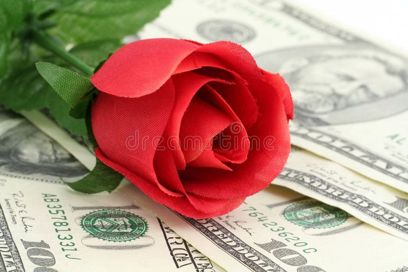 Love And Money Red Rose And Dollar Concept Of Love And Money Sponsored Red Money Love Rose Love Ad Red Roses Valentines Rose