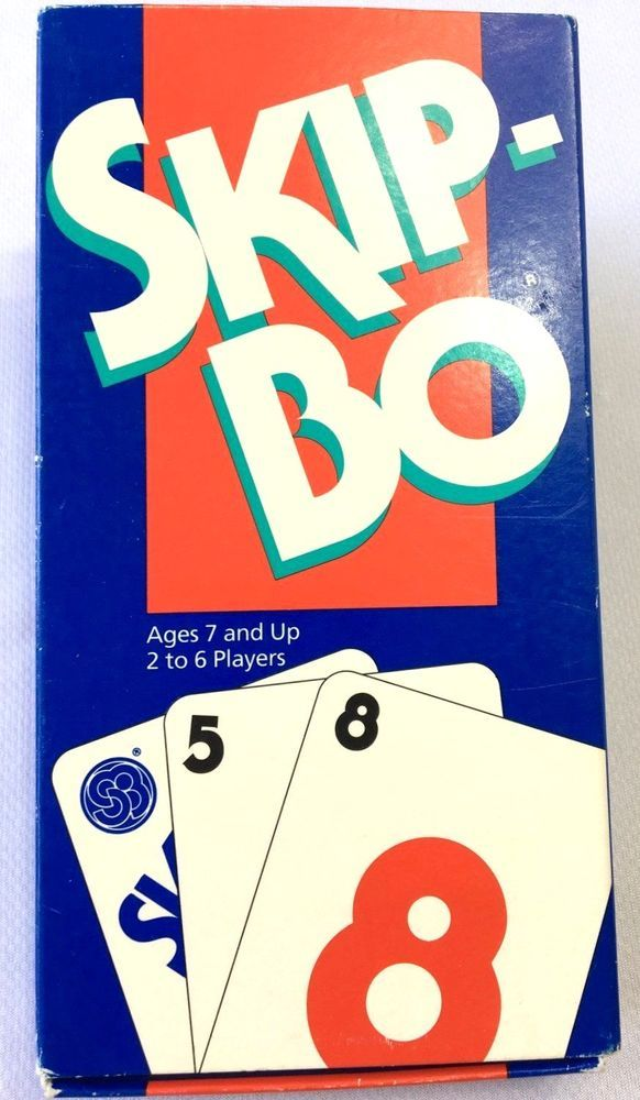 Skip Bo Card Game Instructions Incl Complete Ages 7 2 6 Players