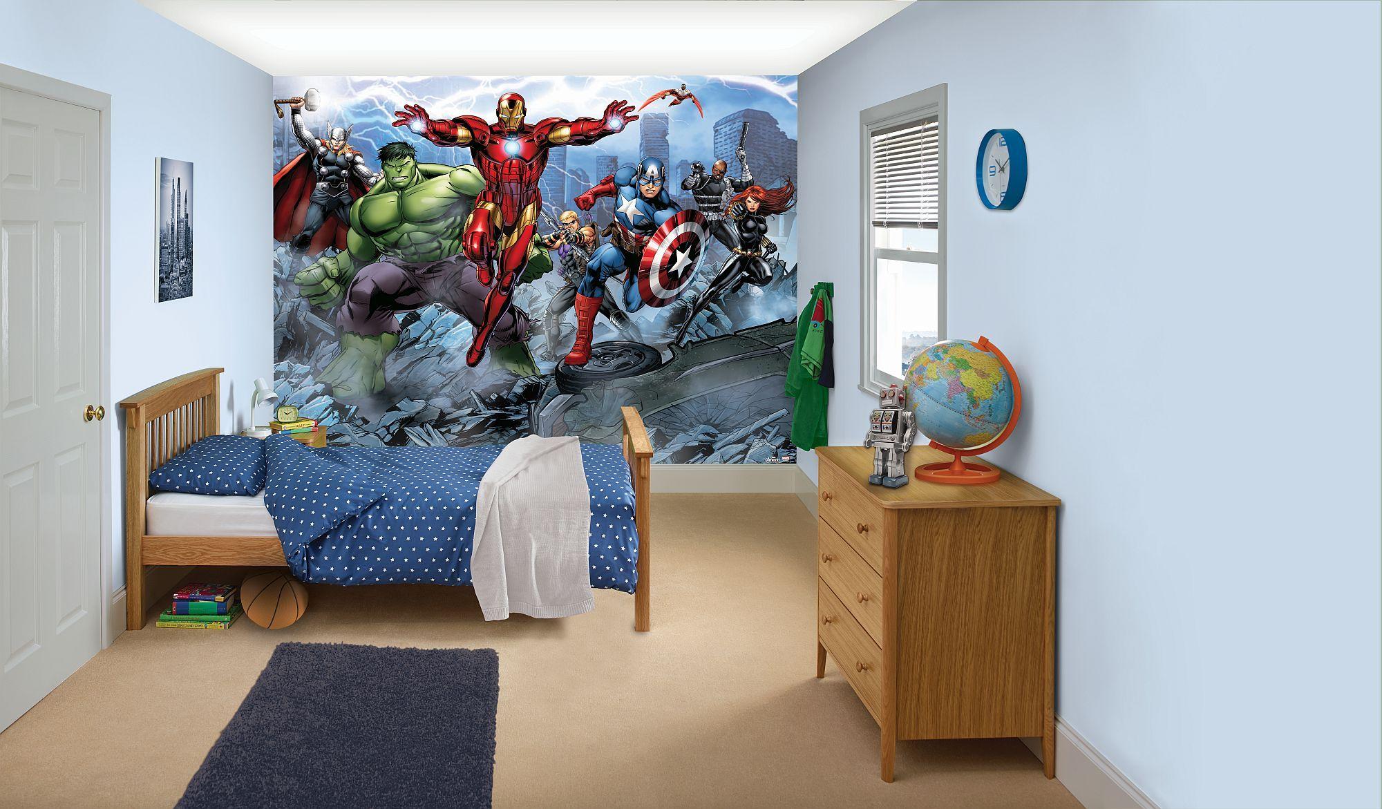 Marvel Avengers Bedroom Wallpaper | Digitalstudiosweb.com