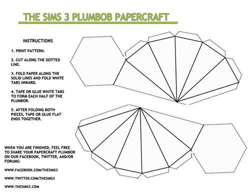 Thank Plumbob It S Friday What Color Is Your Plumbob Today Print Out This Fun Diy Plumob Papercraft Template And Share Sims Paper Crafts Papercraft Templates