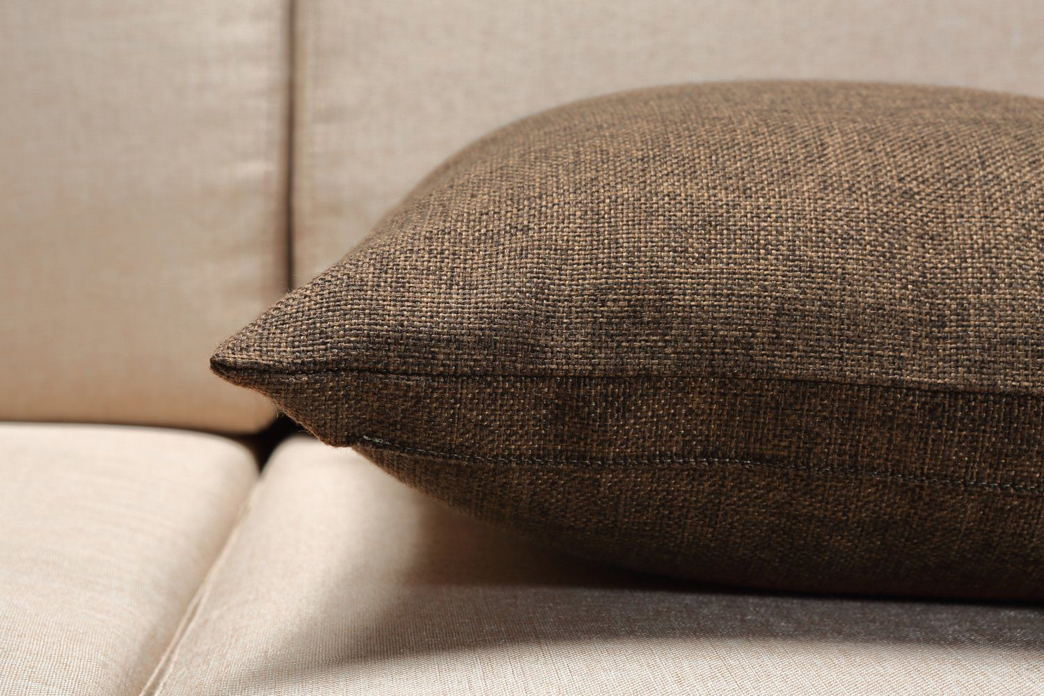 Burlap Linen Throw Pillow Case Cushion Cover Home Decorative Solid Square Pillowcase Thick Luxury Handmade With