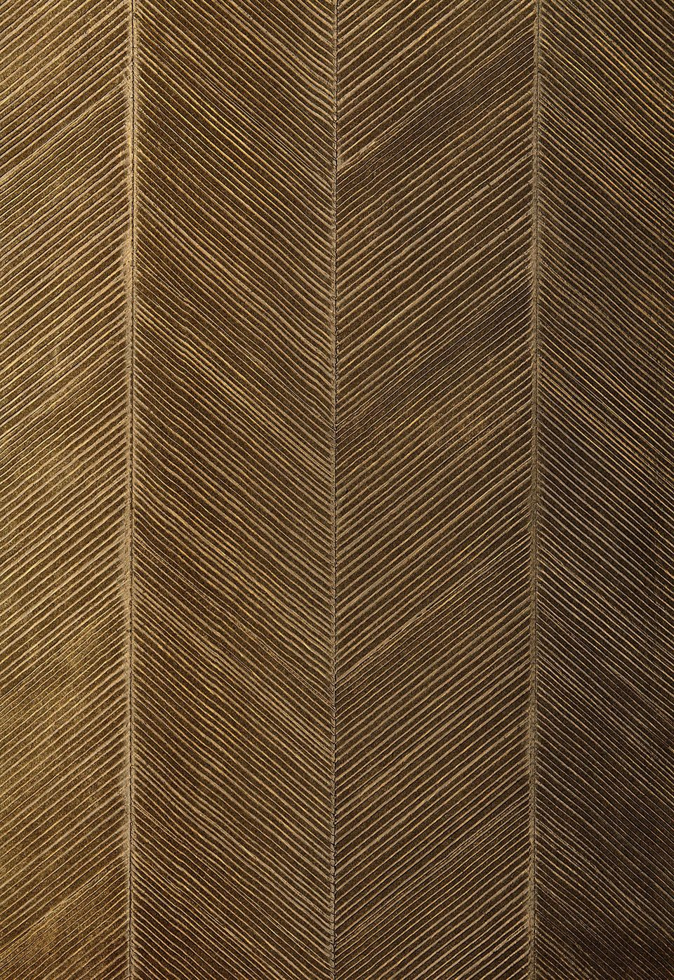 Chevron Texture in Burnished bronze wallpaper by F