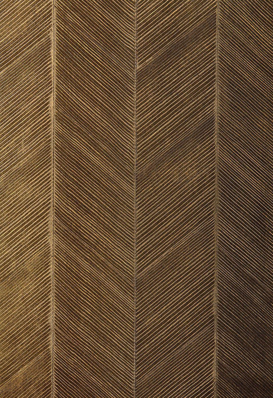 5005653 Chevron Texture Burnished Bronze By Schumacher