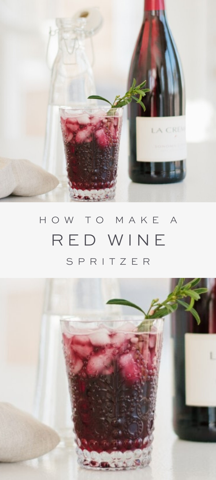 Red Wine Spritzer | Red Wine Cocktail | Julie Blanner