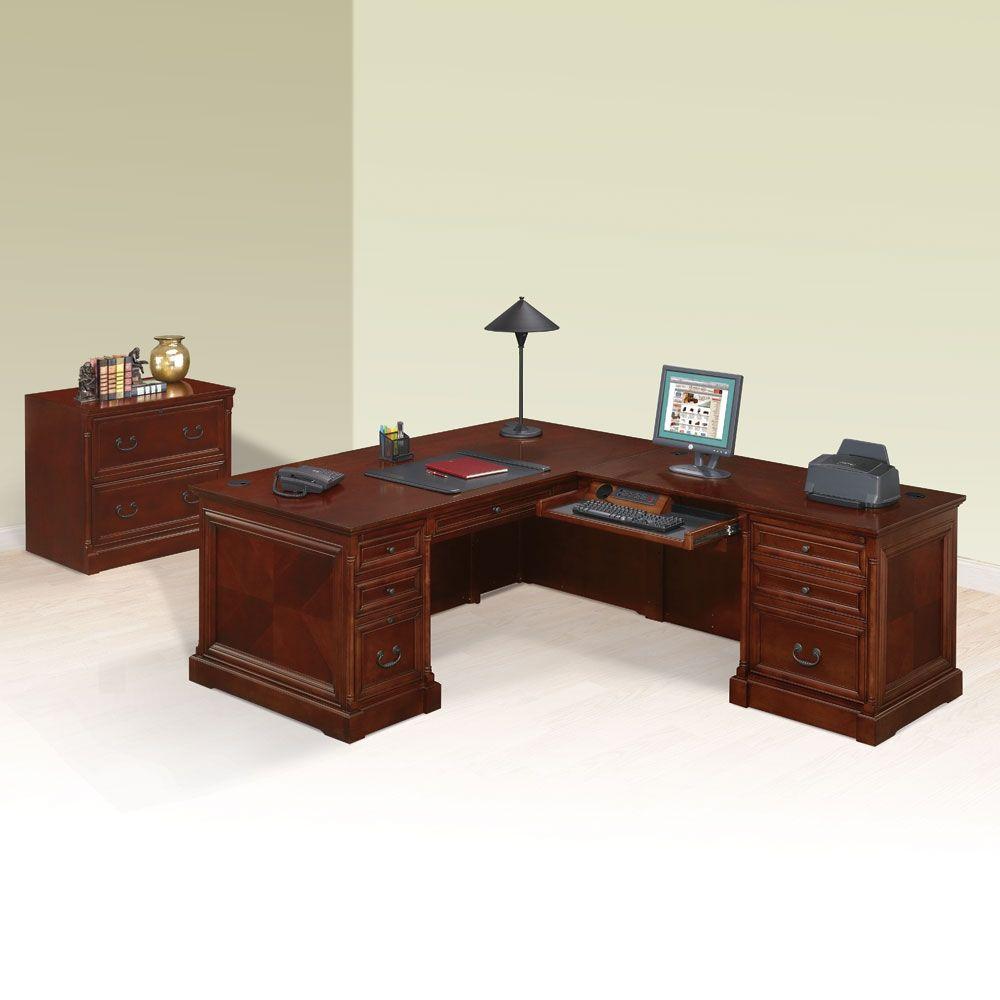 L Desk With Right Return And Lateral File Desk L Desk Small Office Desk