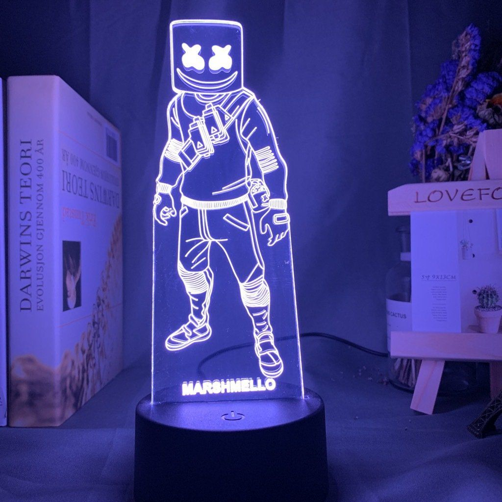 Fortnite Marshmello 3d Illusion Nuit Lumiere Lampe 7 Couleur Lampe Decor Enfants Cadeau D Anniversaire In 2020 Lamp Night Light Lamp Night Light