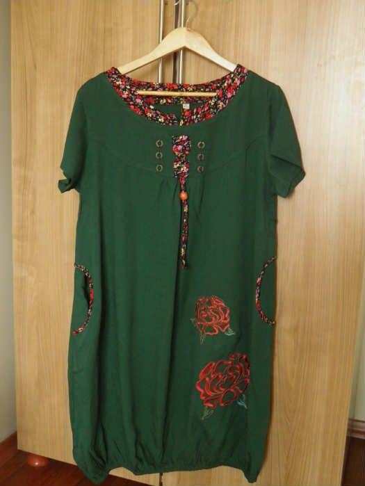 Otantik Diz Hizasi Balon Etekli Yazlik Elbise 82279777 Elbiseler Moda Stilleri Elbise