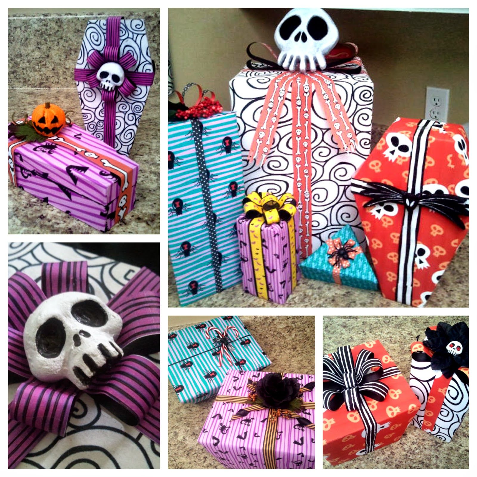 Nightmare Before Christmas Wrapping Paper DIY Tutorial