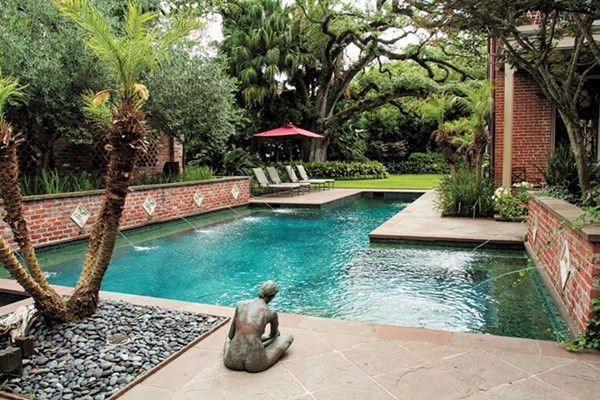 Pin By Phyllis Eyre On Dem Pools Pool Landscaping Cool Pools Swimming Pool Fountains