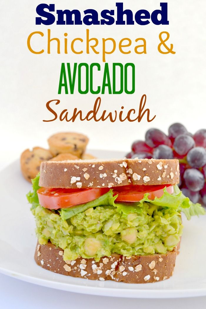 Smashed Chickpea and Avocado Sandwich #LifeoftheLunchbox #ad