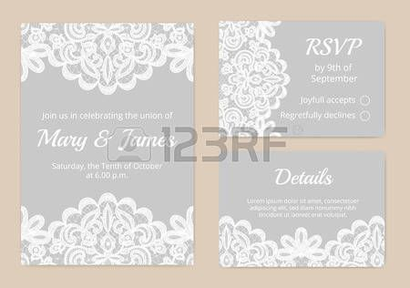 lace: Templates of invitation lace cards for wedding | Invitations ...