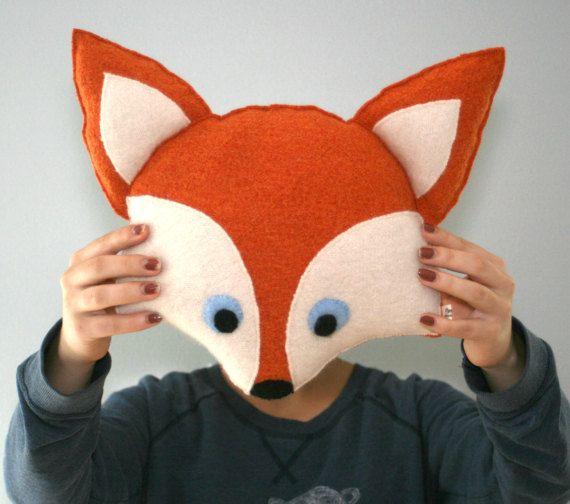 Fox Pillow  Babyshower Gift  Woodland Nursery Decor  by ogsplosh