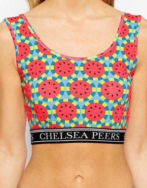 Image 3 ofChelsea Peers Watermelon Crop Top