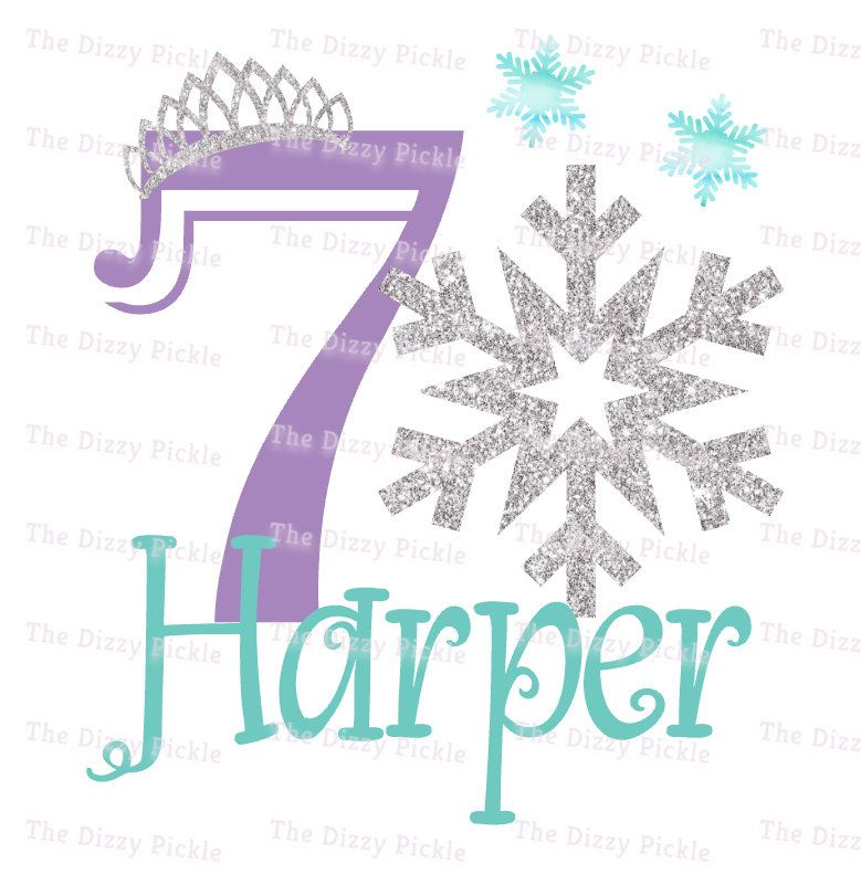 Seventh Birthday Snow Frozen Snowflake Silver Glitter Etsy Frozen Snowflake Snowflakes Sublime