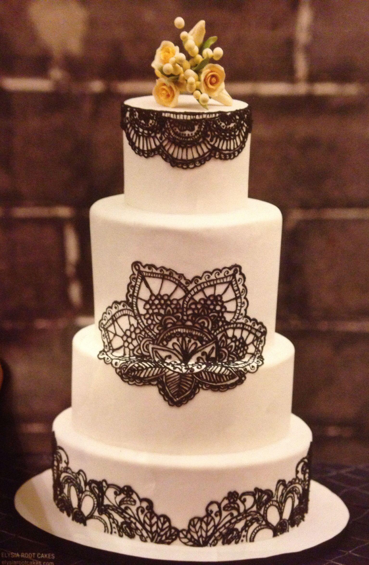 Simple beautiful wedding cake great for halloween wedding wedding